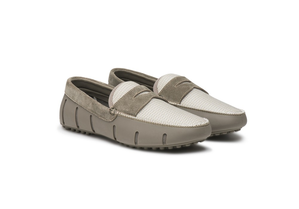 09008d583a0 Swims Penny Lux Loafer Driver khaki white - Bucco Couture -Custom clothing  of distinction- custom suits in NY NJ PA