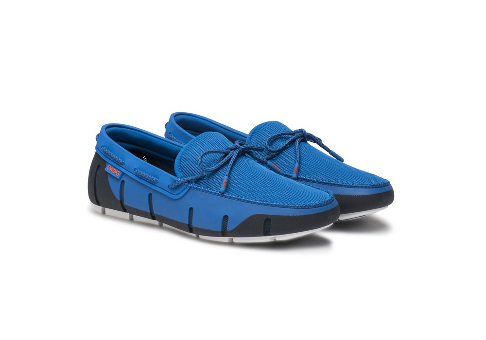 Swims Stride Lace Loafers - Blitz Blue/White Swims 7rcvD6B6G